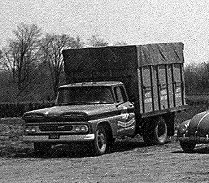 Old truck & cars 1961